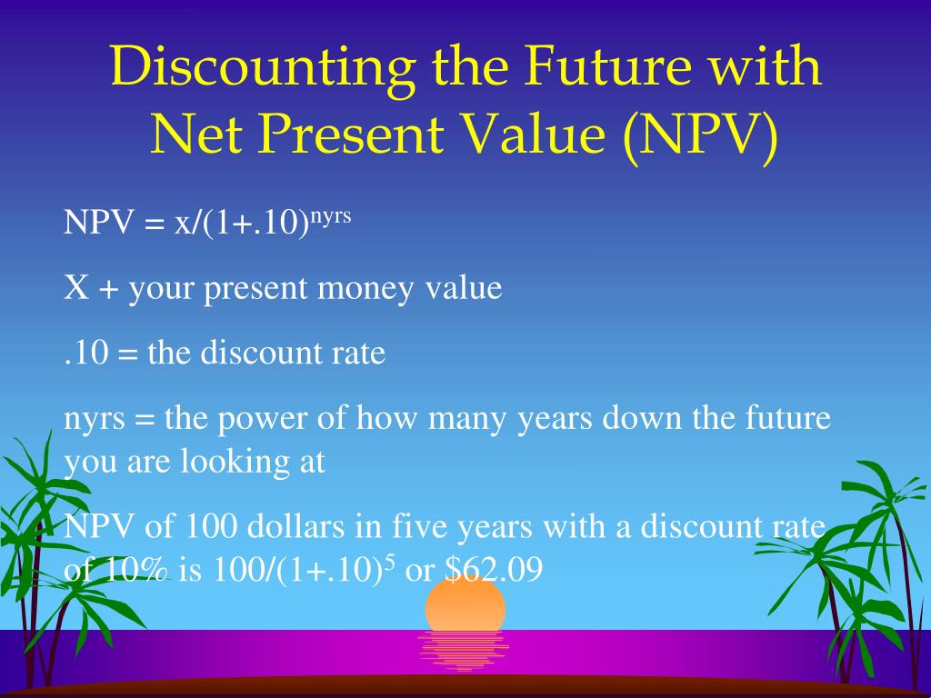 Discounting the Future with Net Present Value (NPV)