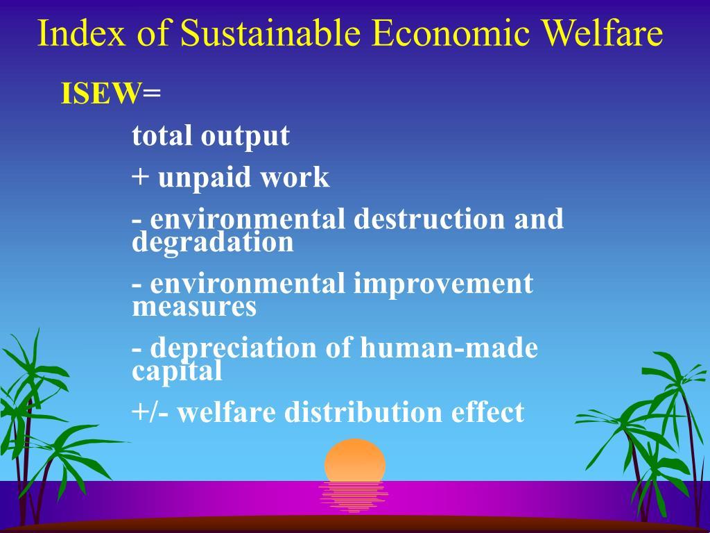 Index of Sustainable Economic Welfare