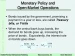 monetary policy and open market operations15