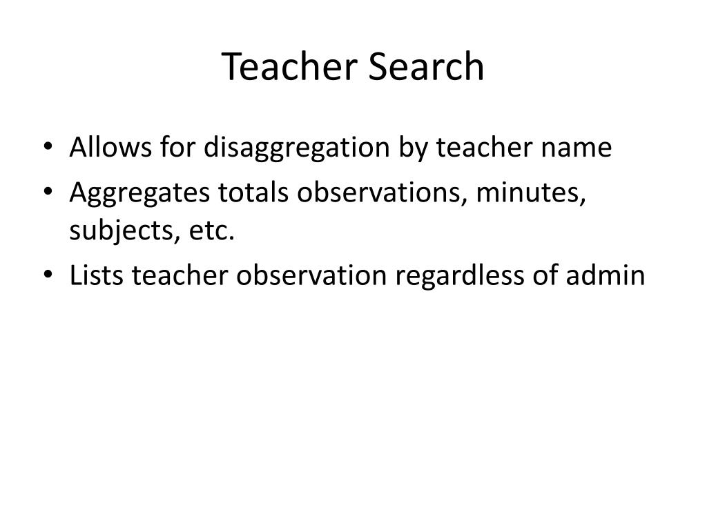 Teacher Search
