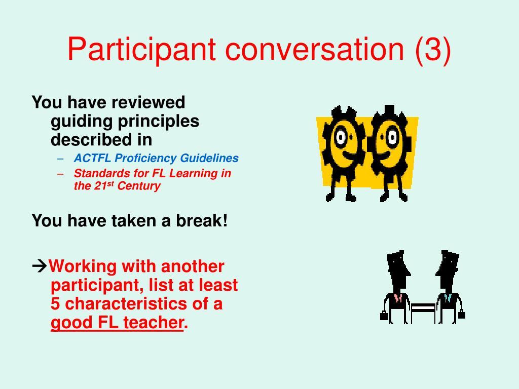Participant conversation (3)
