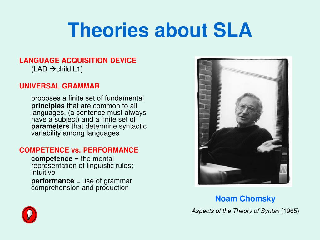 Theories about SLA