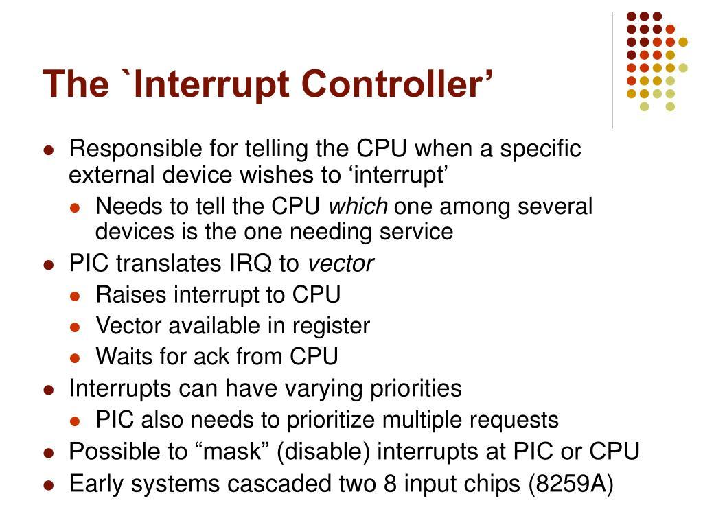 The `Interrupt Controller'