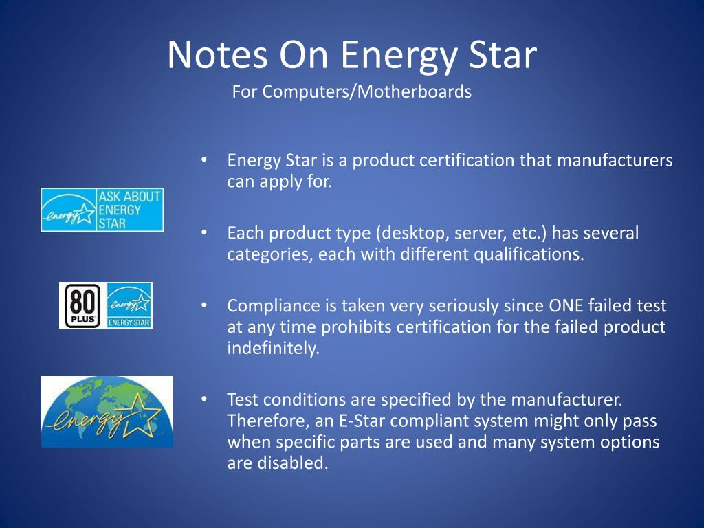 Notes On Energy Star