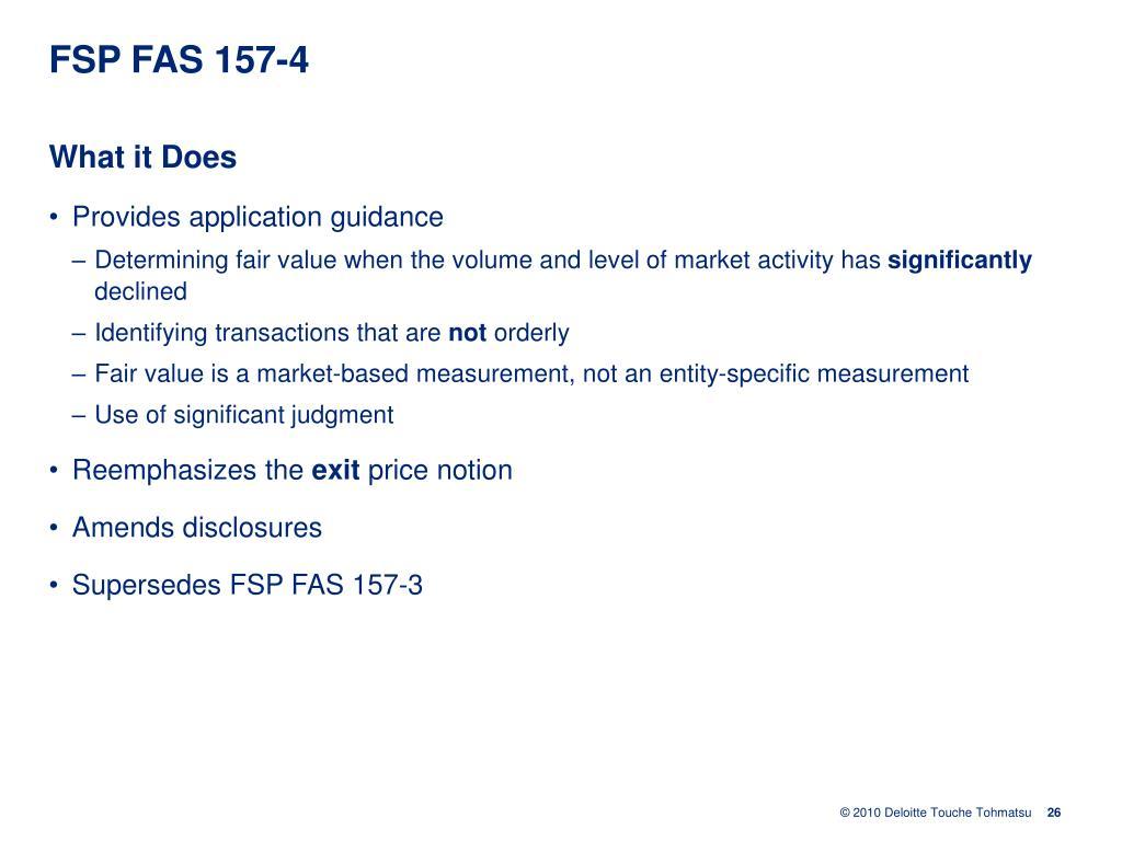 FSP FAS 157-4