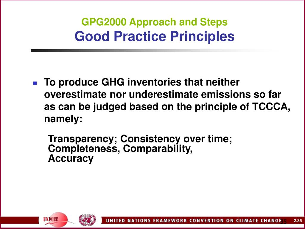 GPG2000 Approach and Steps