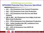 gpg2000 approach and steps gpg2000 potential key sources identified
