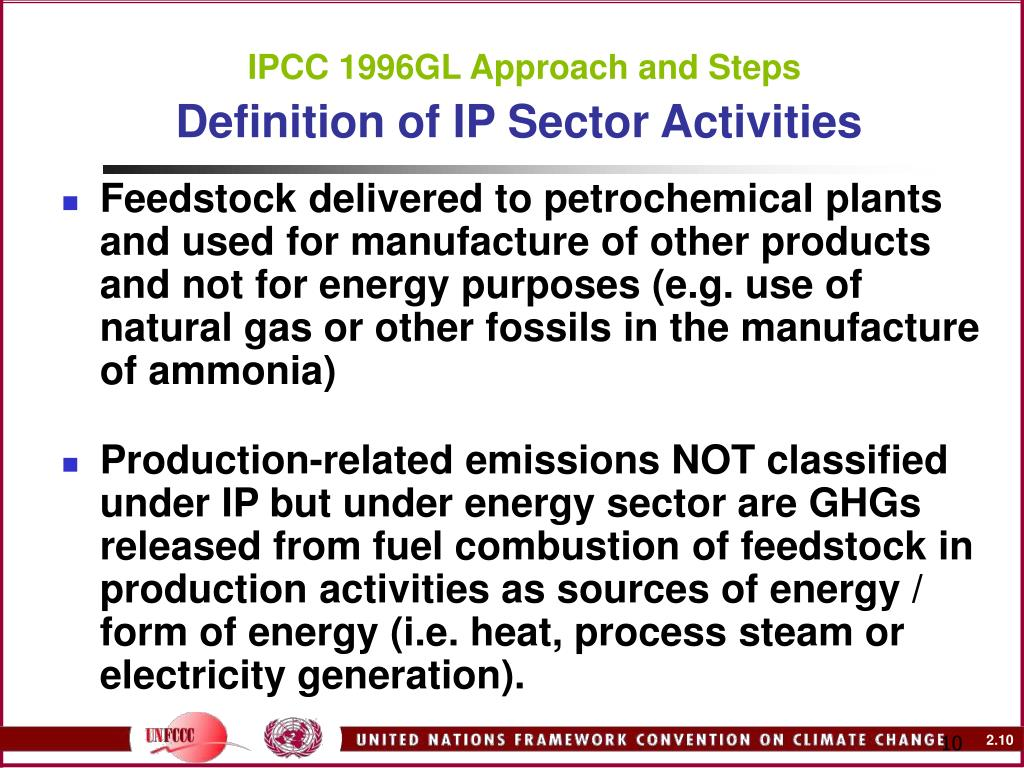 IPCC 1996GL Approach and Steps