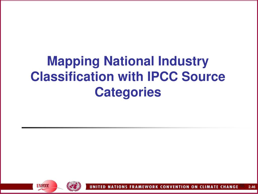 Mapping National Industry Classification with IPCC Source Categories