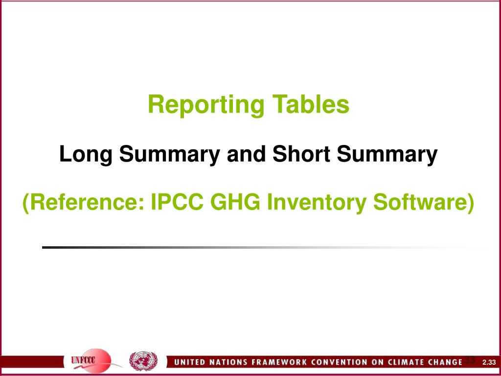 Reporting Tables