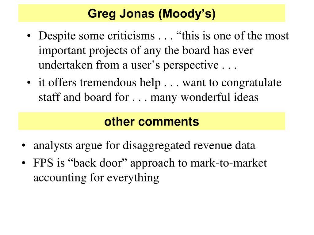Greg Jonas (Moody's)