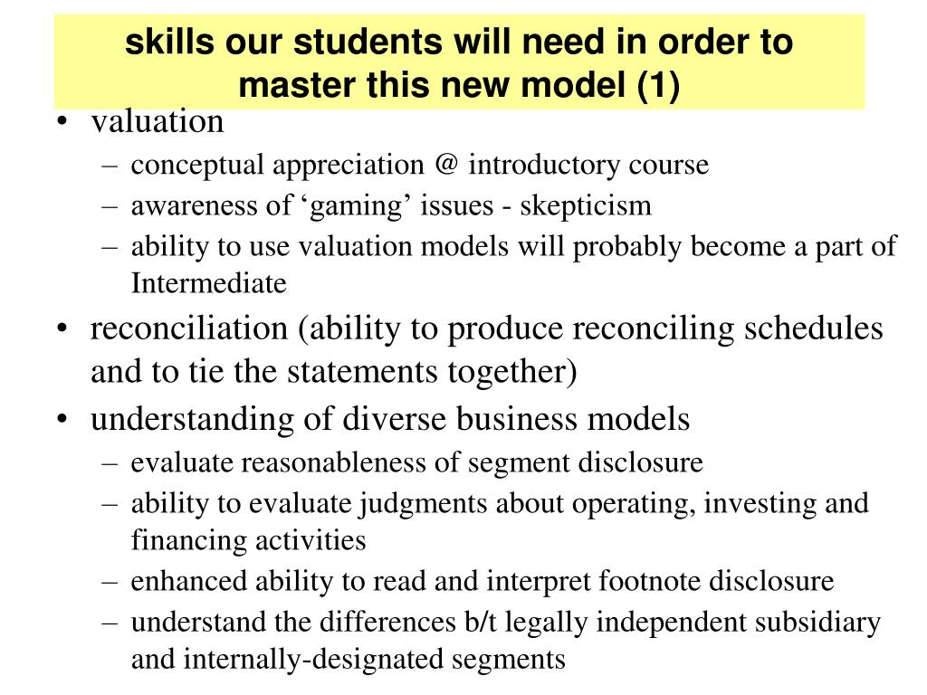 skills our students will need in order to master this new model (1)