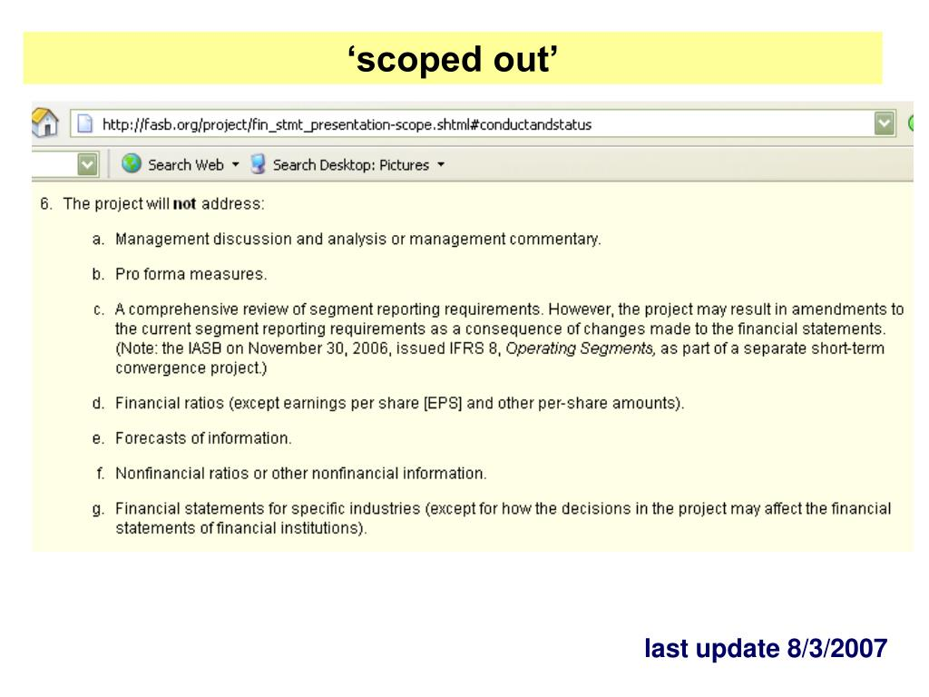 'scoped out'