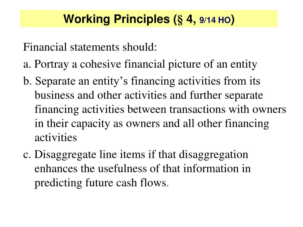 Working Principles (