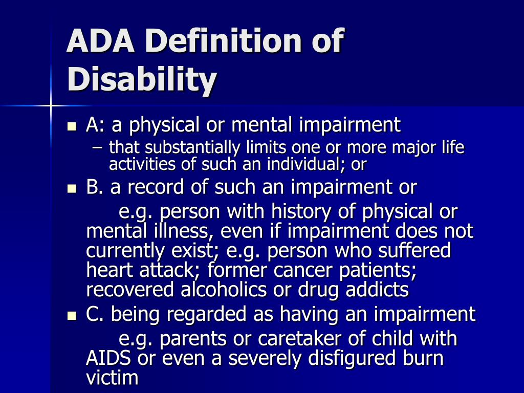 ADA Definition of Disability