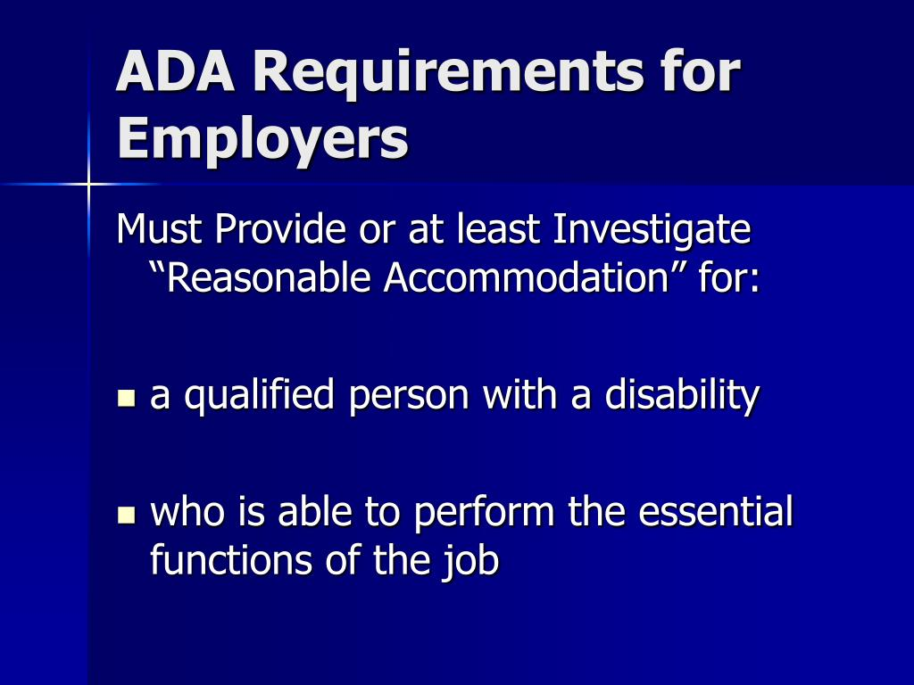 ADA Requirements for Employers