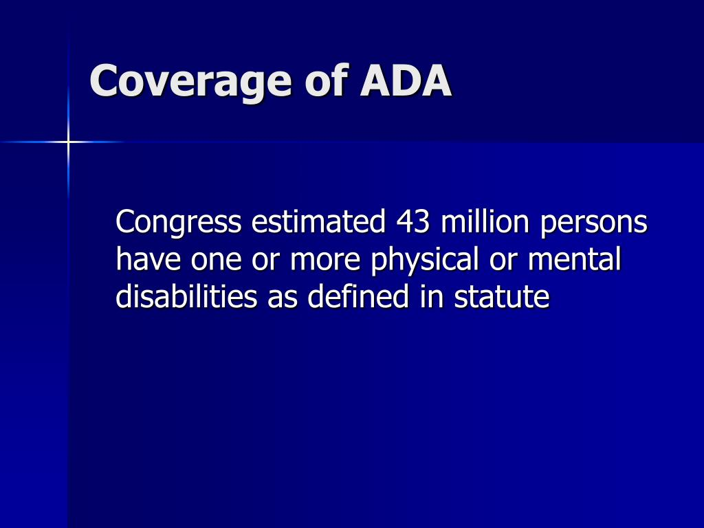 Coverage of ADA