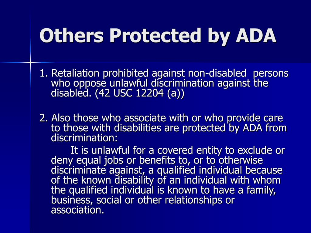 Others Protected by ADA