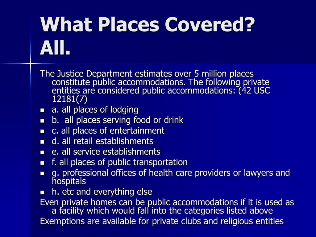 What Places Covered?   All.