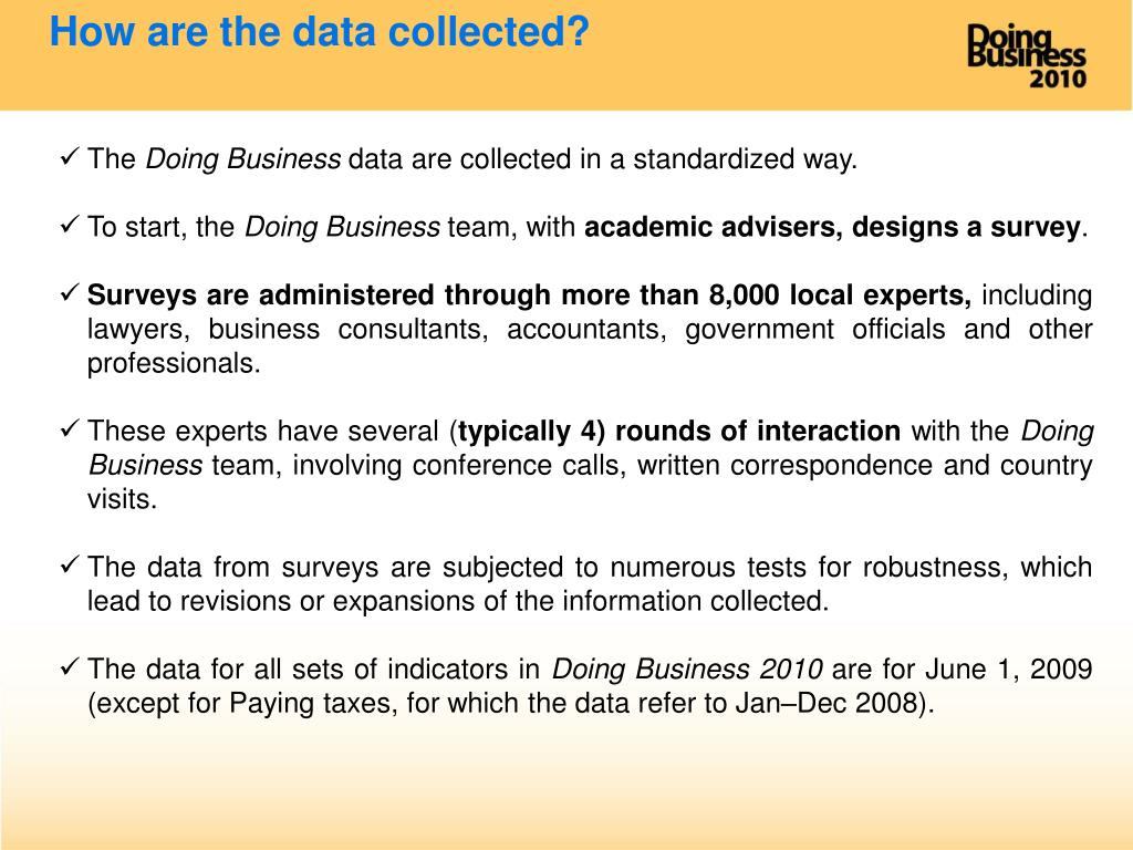 How are the data collected?