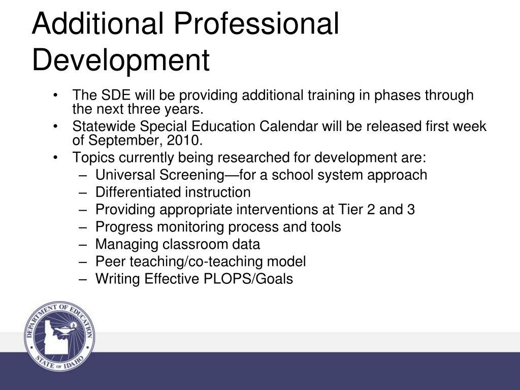 Additional Professional Development