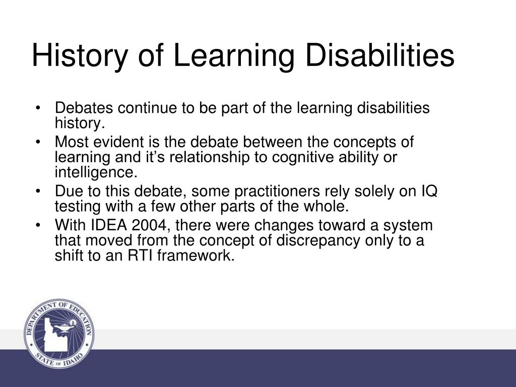 History of Learning Disabilities