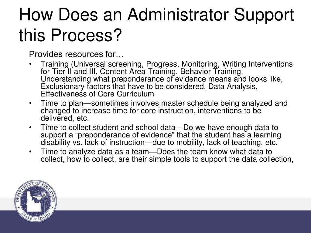 How Does an Administrator Support this Process?