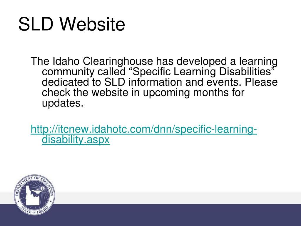 SLD Website