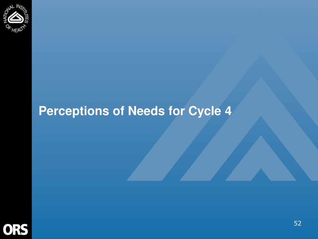 Perceptions of Needs for Cycle 4
