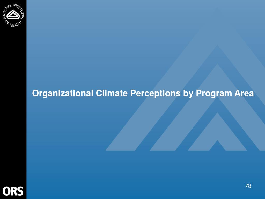 Organizational Climate Perceptions by Program Area