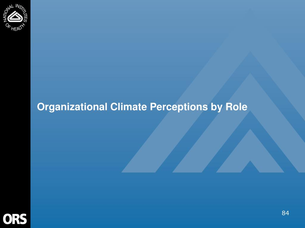 Organizational Climate Perceptions by Role
