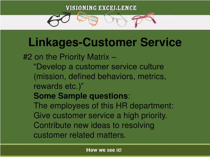 Linkages-Customer Service
