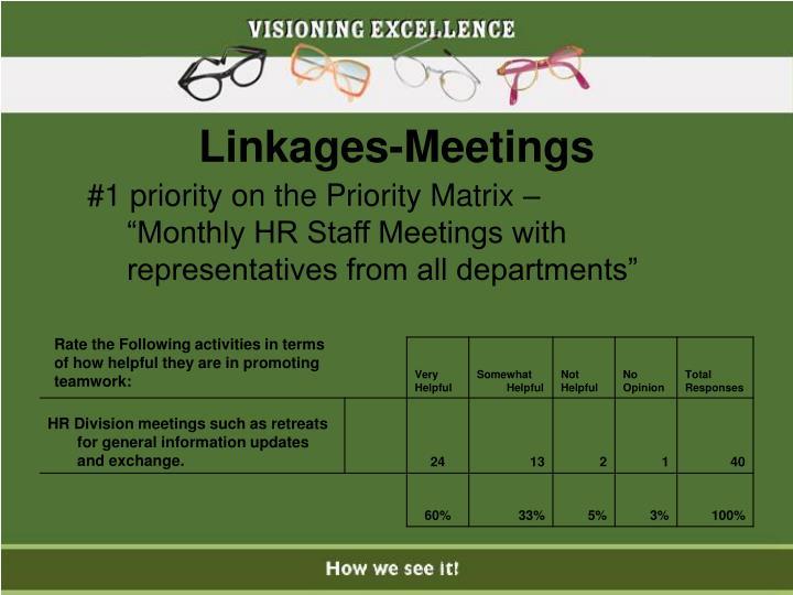 Linkages-Meetings