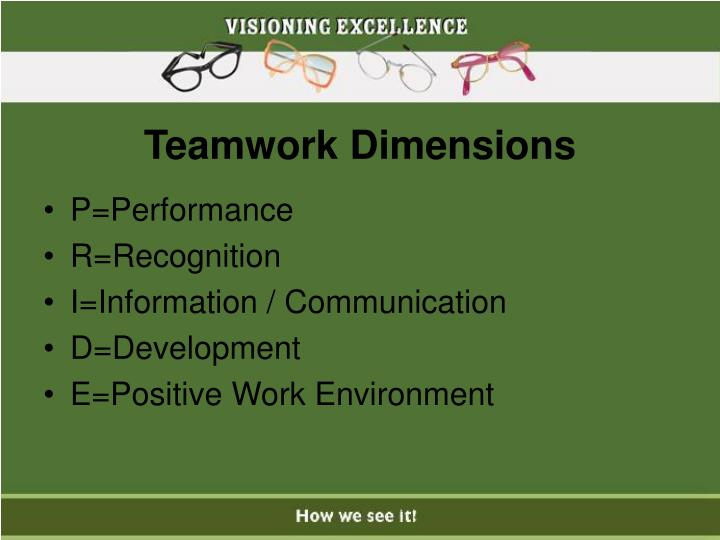 Teamwork Dimensions