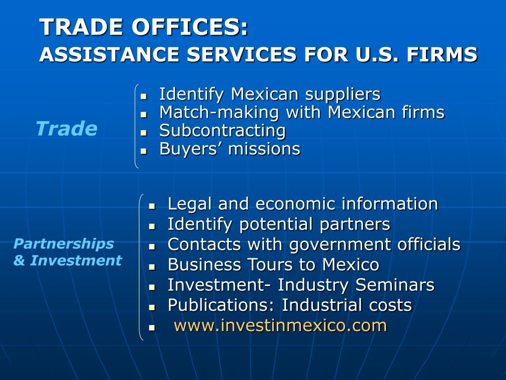 TRADE OFFICES: