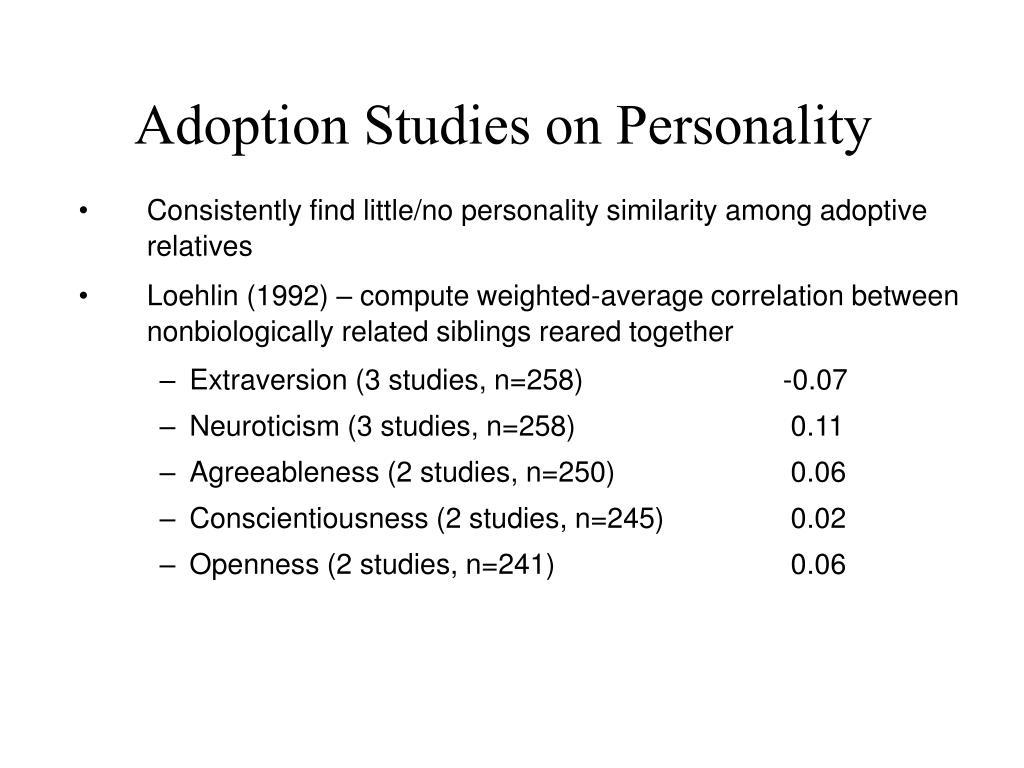 Adoption Studies on Personality