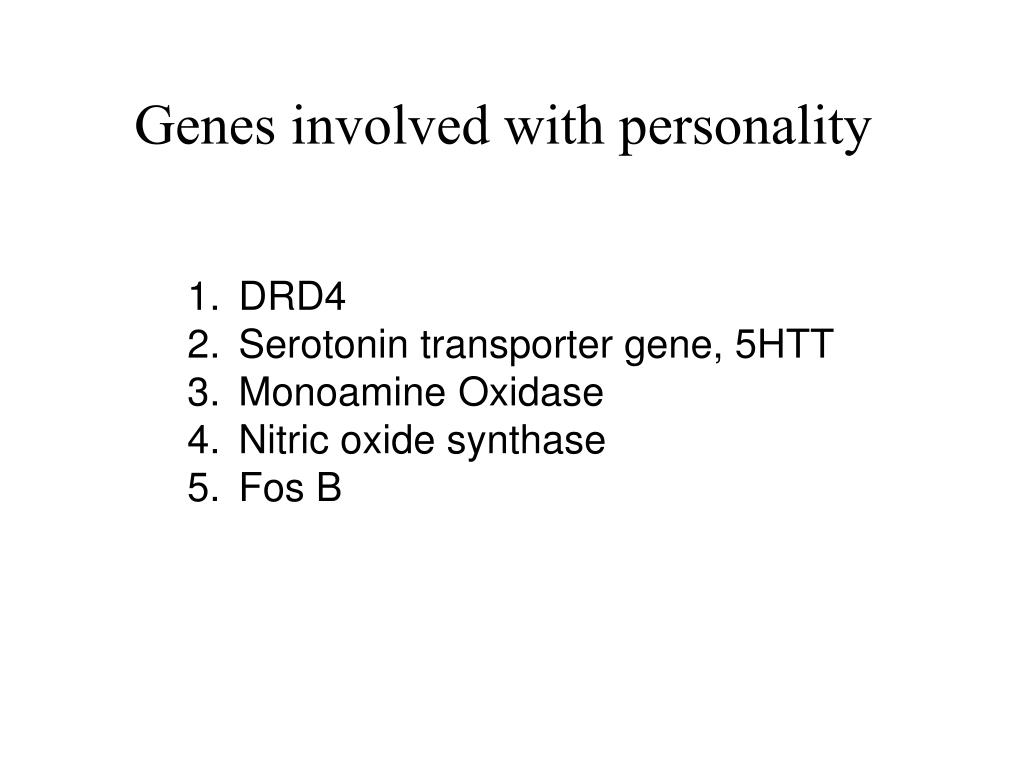 Genes involved with personality