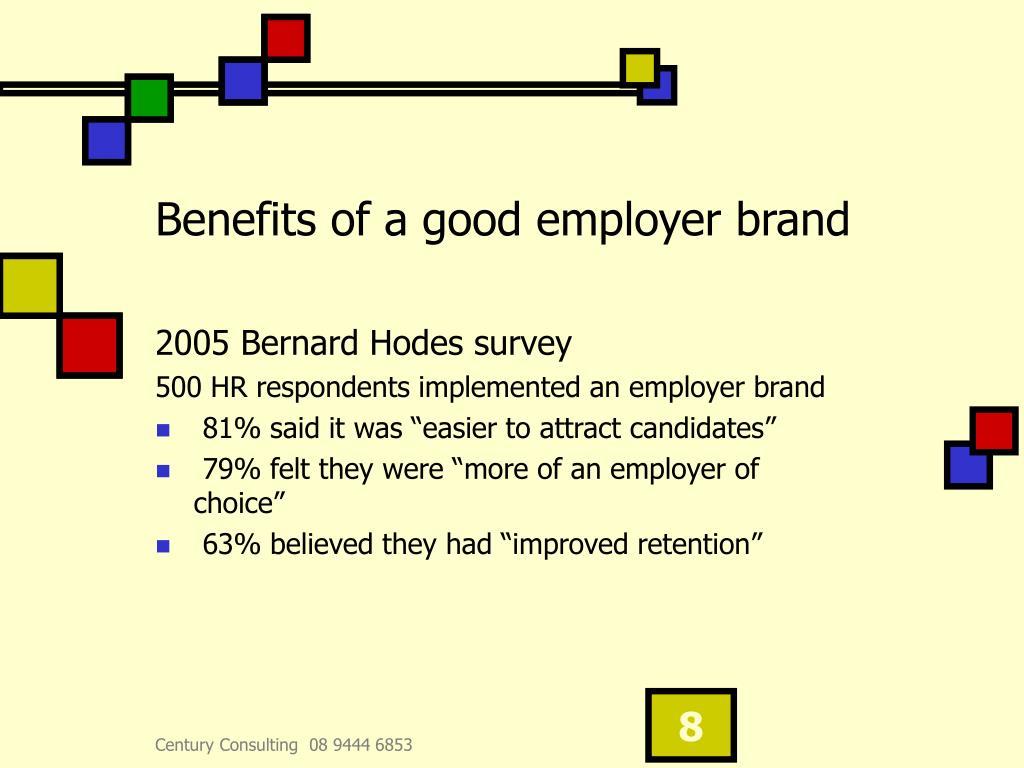 Benefits of a good employer brand
