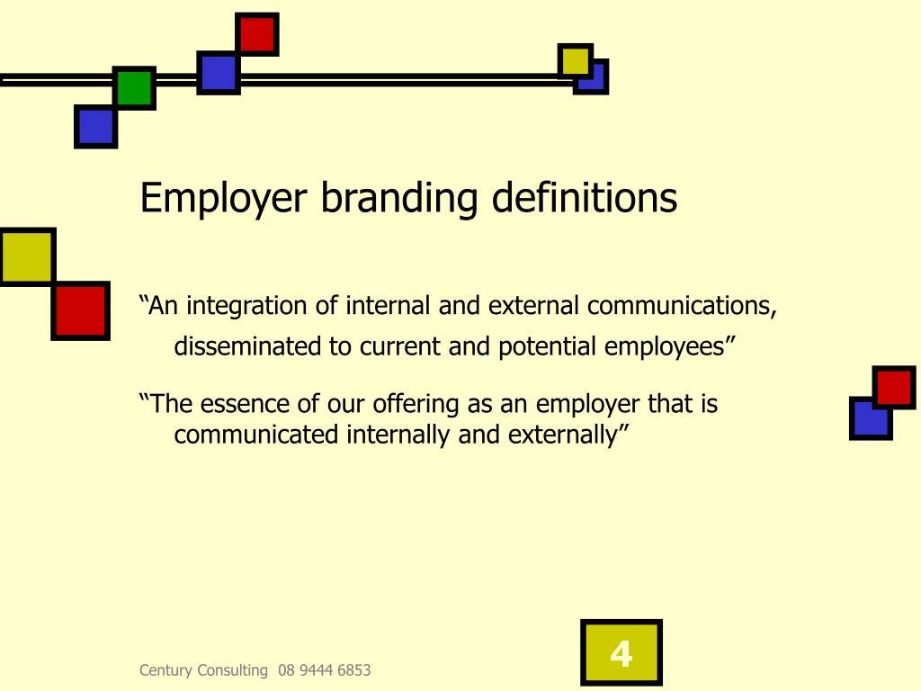 Employer branding definitions