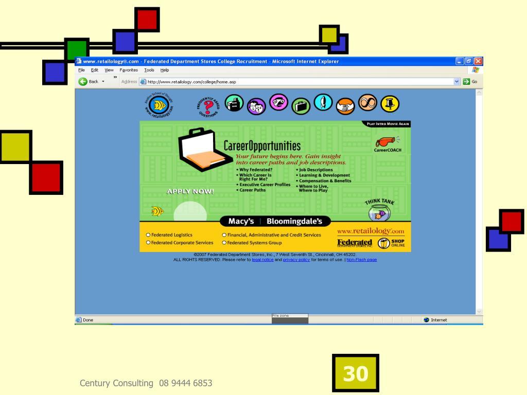 Century Consulting  08 9444 6853