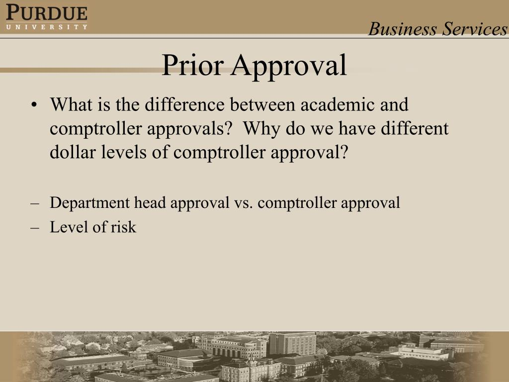 What is the difference between academic and comptroller approvals?  Why do we have different dollar levels of comptroller approval?