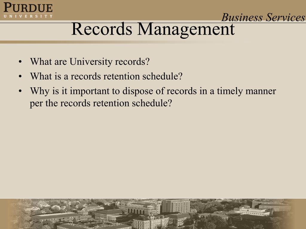 What are University records?