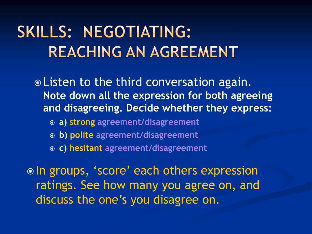Listen to the third conversation again.