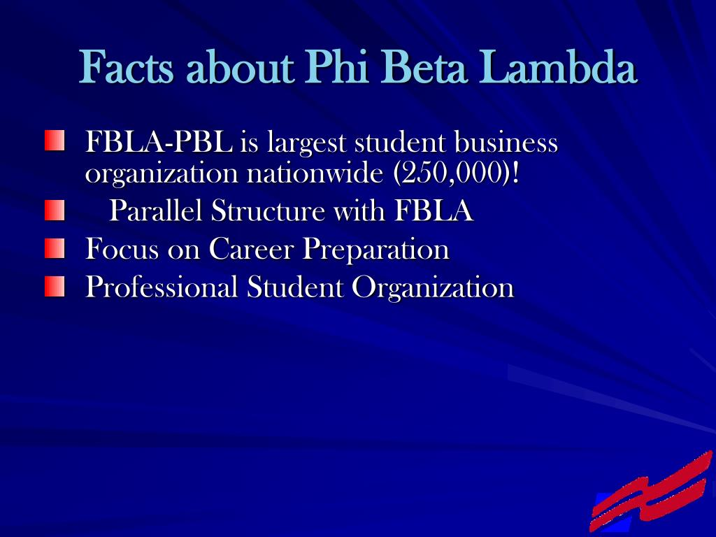 Facts about Phi Beta Lambda