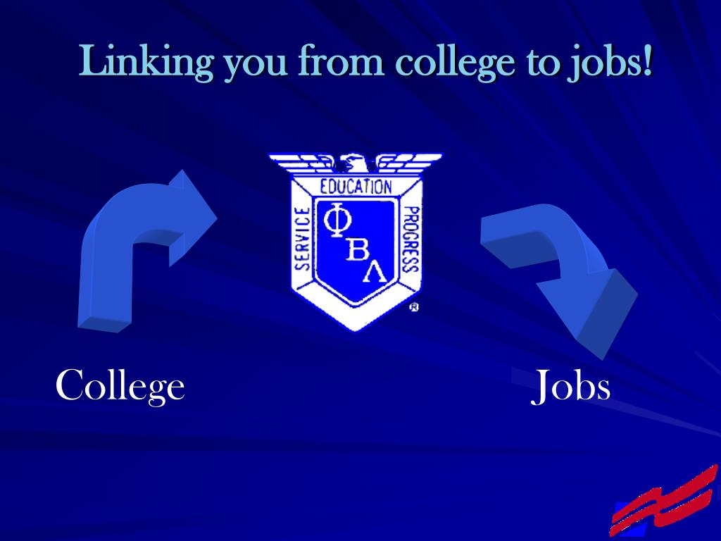 Linking you from college to jobs!