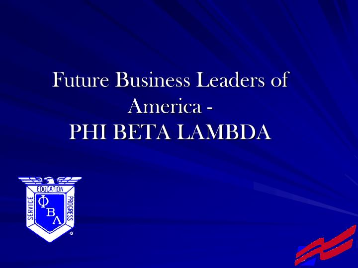 Future Business Leaders of America -