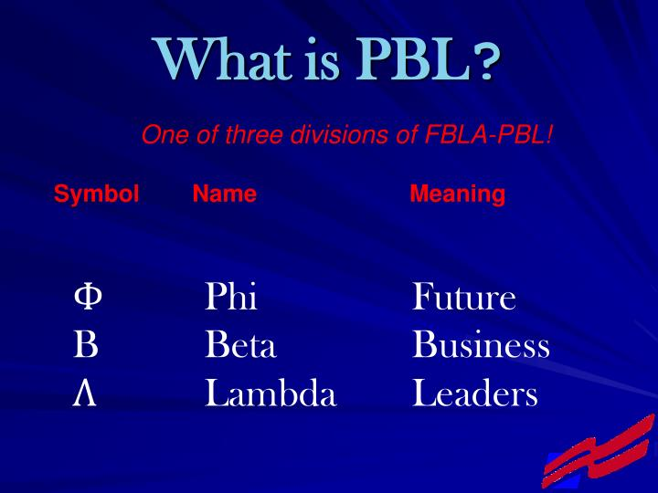 What is pbl l.jpg