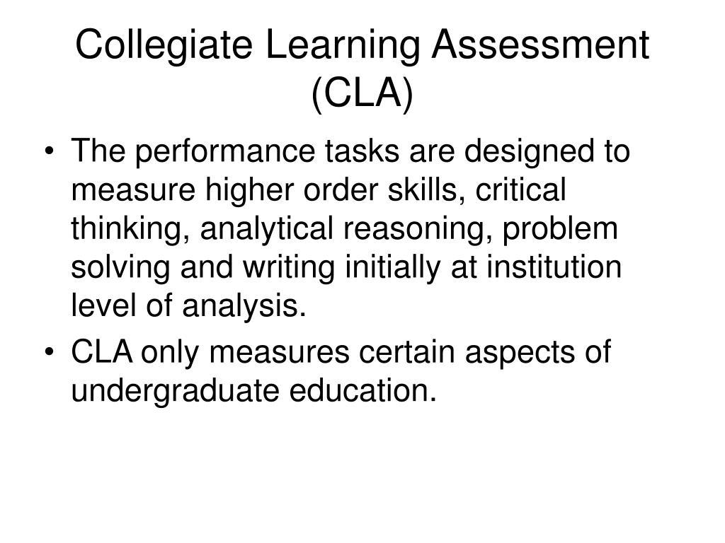 Collegiate Learning Assessment (CLA)