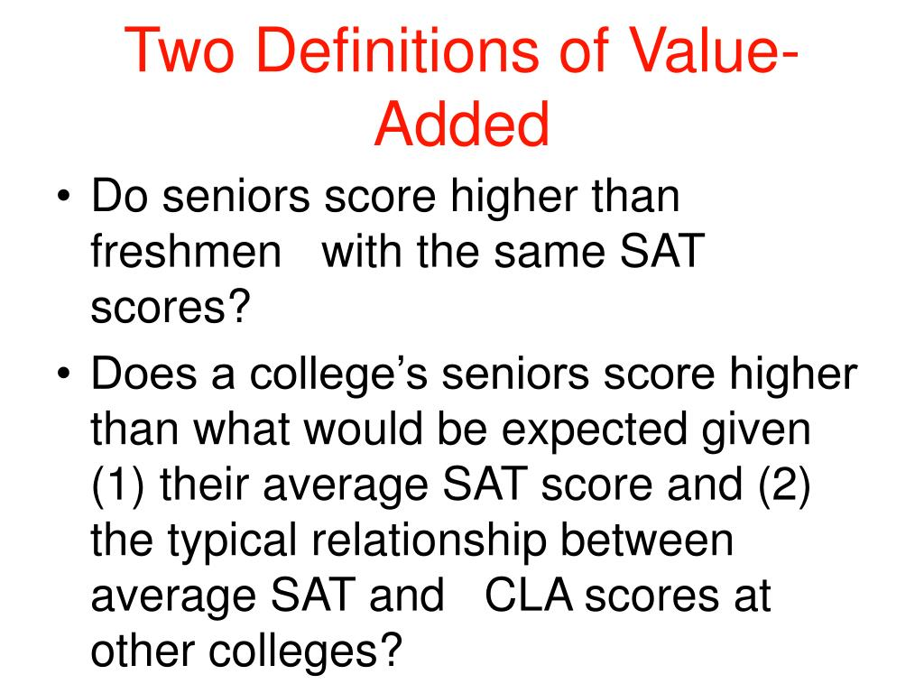 Two Definitions of Value-Added
