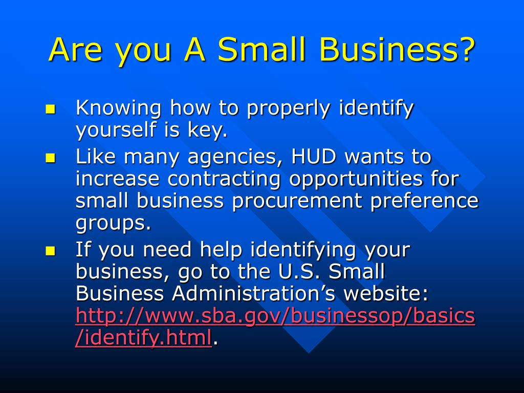 Are you A Small Business?